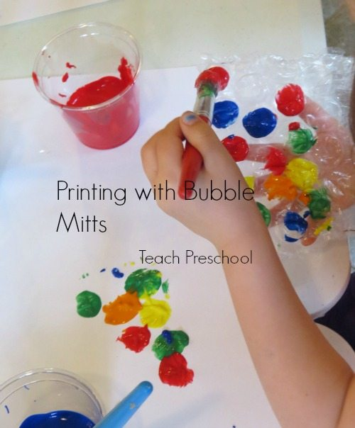 Printing with bubble mitts  Teach Preschool
