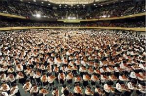 Suzuki violinists at the Budokan in Tokyo
