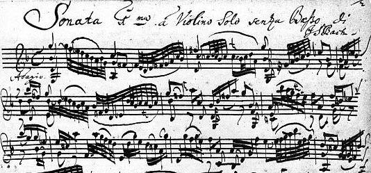 J.S. Bach autograph