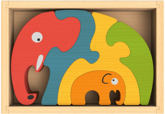 I like using a simple, unusual puzzle as a way to interact with a potential student during an interview. It helps me analyze their fine motor skills, ability to take direction and general sense of fun. This is the  Begin Again Elephant Puzzle.