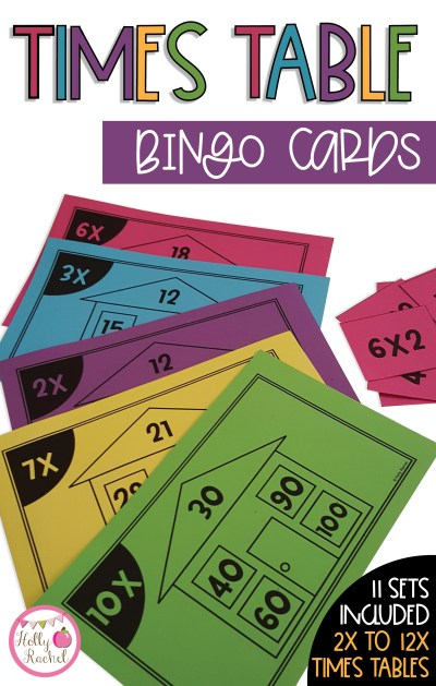 classroom multiplication games bingo cards