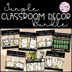 jungle classroom decor bundle