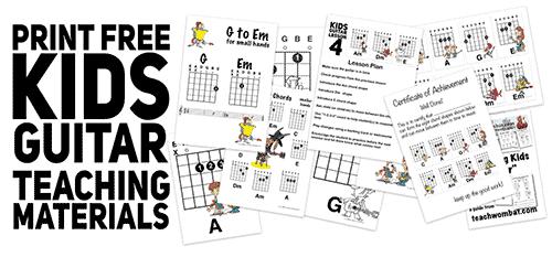 free guitar teaching resources