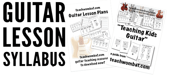 Guitar Lesson Syllabus