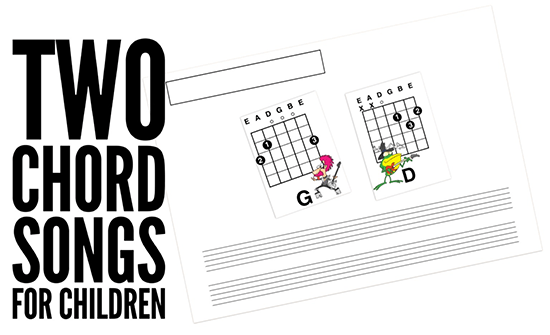 Easy Kids Guitar Songs using the chords that children