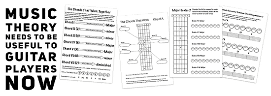 How to teach Music Theory to Guitar Players with handouts