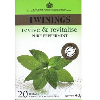 Twinings Pure Peppermint Herbal Tea, 1.41 Ounce Box