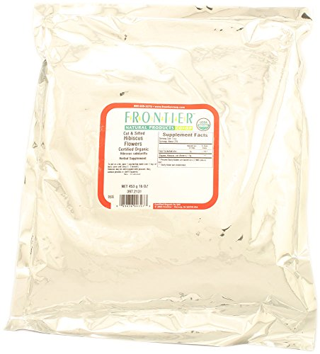 Frontier Natural Products – Hibiscus Flower Cut & Sifted Organic – 1 lb.