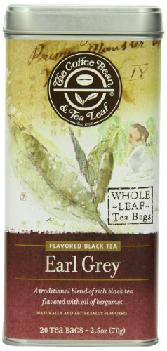The Coffee Bean & Tea Leaf, Tea, Hand-Picked Earl Grey, 20-Count Tin