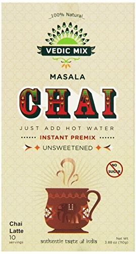 Vedic Mix Unsweetened Masala Chai Tea Latte, 3.88 Ounce