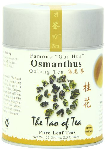 The Tao of Tea, Osmanthus Oolong Tea, Loose Leaf, 2.5 Ounce Tin
