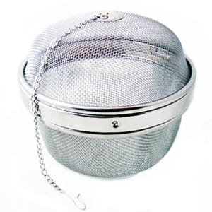 NEW, Extra-Large Jumbo-Size, Twist-Lock Spice Ball Tea Infuser Herb Infuser, Stainless Steel, Extra Large Size (4″ x 4″)