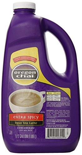 Oregon Chai Extra Spicy Original Chai Tea Latte Concentrate, 64 Ounce Jug