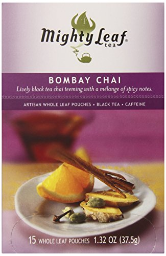 Mighty Leaf Tea, Bombay Chai, 15 Count Whole Leaf Pouch