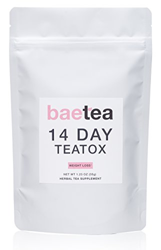 Baetea THE BEST Weight Loss Tea ● Detox + Body Cleanse + Reduce Bloating + Appetite Suppressant ● 14 Day Teatox ● Potent Traditional Organic Herbs ● Ultimate Way to Calm & Cleanse Your Body