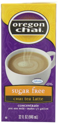 Oregon Chai Sugar Free Chai Tea Latte Concentrate, 32-Ounce Boxes (Pack of 6)