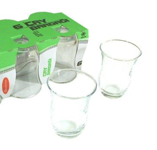 Turkish Tea Glass Set – Plain (6 Pcs)