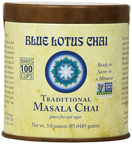 Blue Lotus Traditional Masala Chai – Makes 100 Cups! (3oz)