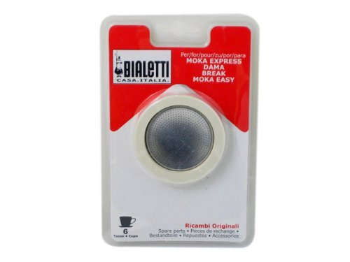 Bialetti Replacement Gaskets and Filter For 6 Cup Stovetop Espresso Coffee Makers