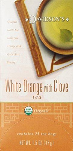 Davidson's Tea White Orange with Clove, 25-Count Tea Bags (Pack Of 6)