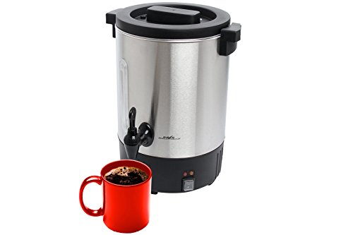 Cafe Amoroso 50-Cup Stainless Steel Double Walled Commercial Coffee Maker Urn