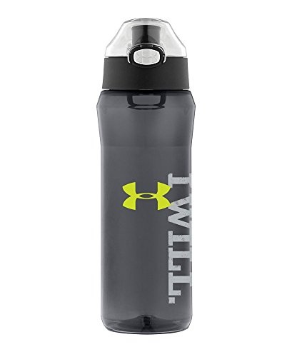 Under Armour Draft 24 Ounce Tritan Bottle with Flip Top Lid, Cool Grey