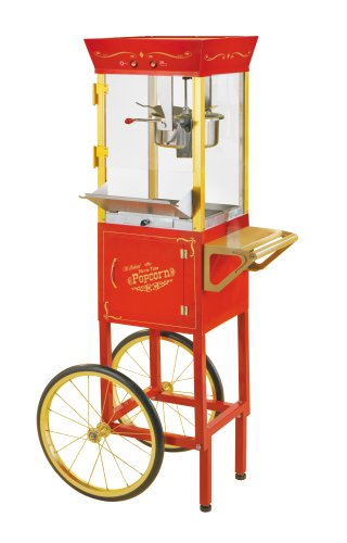 Nostalgia Electrics CCP510 53″ Tall Vintage Collection 6-Ounce Kettle Commercial Popcorn Cart