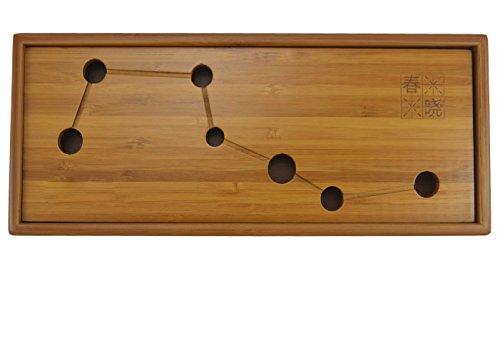 11.8″x4.7″x1.37″ Chinese Gongfu Tea High Quality Bamboo Tea Tray- Mini Size