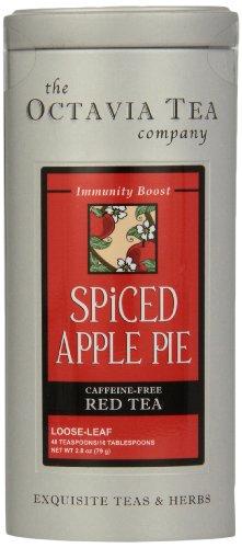 Octavia Tea Spiced Apple Pie (Caffeine-Free Red Tea/Rooibos) Loose Tea, 2.8 Ounce Tin