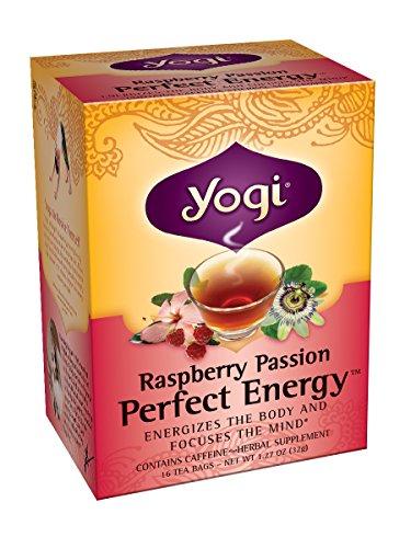 Yogi Raspberry Passion Perfect Energy, 1.27 Ounce Package (16 tea bags)
