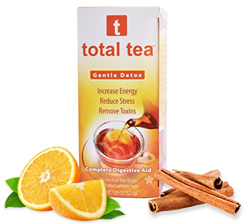 Gentle Detox Tea + Reduce Bloating Constipation and Weight Loss Tea + Doctor Recommended Colon Cleanse Tea + 10 Natural Herbs + Delicious Aroma + 25 Individual Bags + 100% Happy Dieter Tea Guarantee
