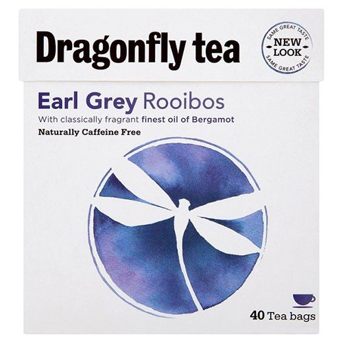 (2 Pack) – Dragonfly Tea – Earl Grey Rooibos Tea | 40 Bag | 2 PACK BUNDLE