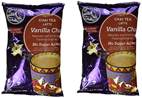 Big Train No Sugar Add Vanilla Chai Latte, Two 3.5lb. Bags + Measuring Scoop