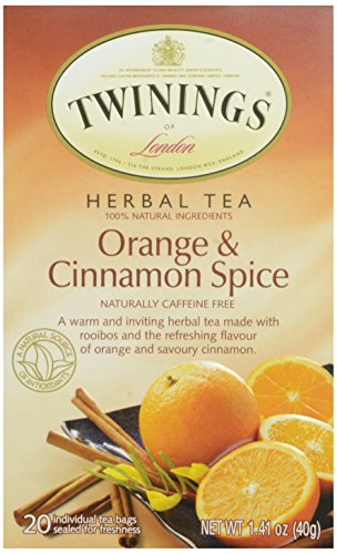 Twinings Orange and Cinnamon Spice Herbal Teabags, 20 Count