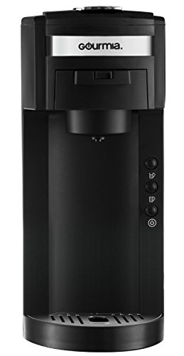 Gourmia GC150 JavaMaster 2-In-1 K-Cup and Ground Coffee Single Serve Coffee Maker with Hydroforce Extraction System and Adjustable Dispenser