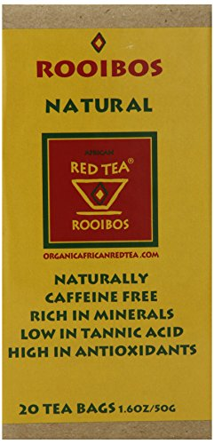 African Red Tea Imports Tea Bags, Rooibos Natural Red, 1.6 Ounce