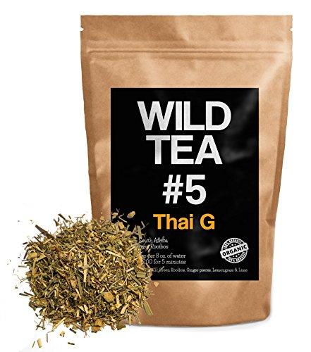 Organic Rooibos Tea with Ginger, Lemongrass and Lime, Wild Tea #5 Loose Leaf Tea, Thai G (4 ounce)
