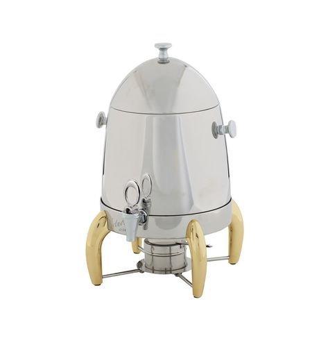 Winco 903A Virtuoso Coffee Urns with Gold Legs, 3-Gallon