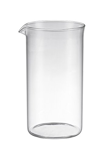 Bruntmor Universal Replacement beaker Spare Heat & Shock resistant Borosilicate Glass Carafe for French Press Coffee Maker, 8-cup, 34-ounce (Fits Bodum and all other 8 cup French Press)