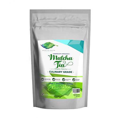 Matcha Green Tea Powder – Premium Organic – Fat Burner – Incredible Taste – 137x Antioxidants – Great for Latte – Smoothies – Ice Cream – Baking – Energy Boost – Coffee Substitute (Culinary Grade) 4oz