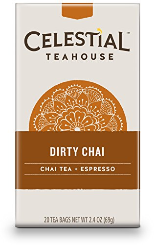 Celestial Seasonings Dirty Chai Tea, 20 Count (Pack of 6)