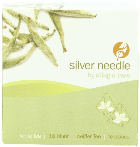 Adagio Teas Gourmet Tea Bags, Silver Needle, 15 Count
