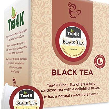 36 Count Tea4k Black Tea Single Serve Cups For Keurig K