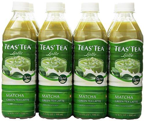 Teas' Tea Latte, Matcha Green Tea, 16.9 Ounce (Pack of 12)