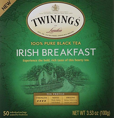 Twinings Black Tea Bags, Irish Breakfast, 50 Count