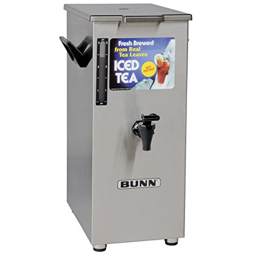 Bunn 4 Gallon Tall Iced Tea Dispenser w/ Solid Lid
