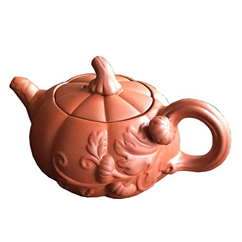 Newest Style Top Grade Red Pumpkin Tea Pot Yixing Zisha Purple Clay Teapot 320ml
