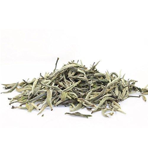 Organic White Tea Silver Needle – Bai Hao Yinzhen Loose Leaf Tea – 1.6oz