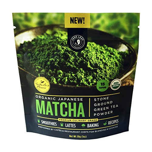 Jade Leaf – Organic Japanese Matcha Green Tea Powder, Premium Culinary Grade (Preferred By Chefs and Cafes for Blending & Baking) – [30g starter size]