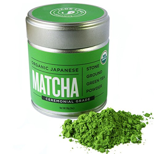 Jade Leaf – Organic Japanese Matcha, Classic Ceremonial Grade (For Sipping as Tea) – [30g Tin]